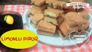 Limonlu piroq resepti Limonlu piroq hazirlanmasi Limon kek yapımı