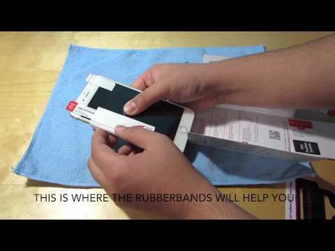 iCarez Installation: iPhone 6 Plus Clear HD Screen Protectors: Hinge Method!