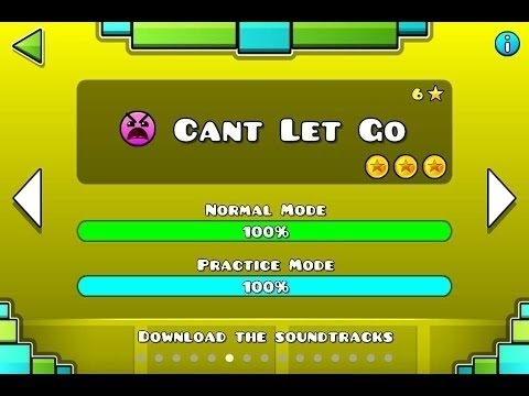 Geometry Dash level 6 - Can't Let Go. ALL COINS