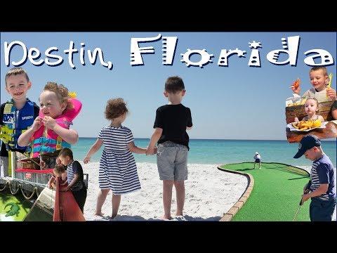 Destin Florida | Beach - Fudpuckers Feeding Gators! - The Track Mini Golf - Henderson Beach
