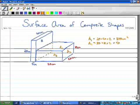 Math 9 - 1.3 - Surface Area of Composite Shapes
