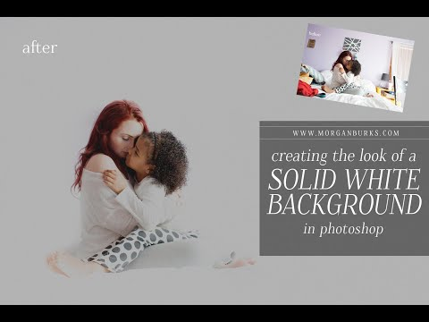 Creating the look of a Solid White Background in ACR and Photoshop