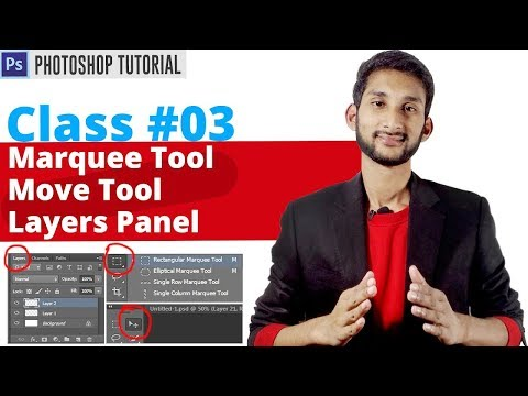 Photoshop Bangla Tutorial | How to Use the Marquee Tool, Move Tool And Layer Panel | Class #03