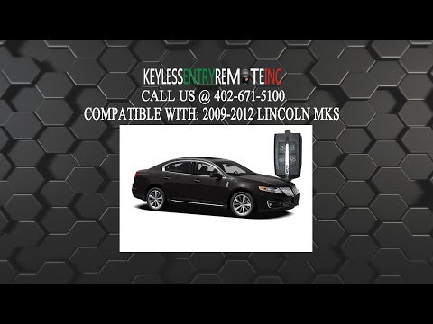 How To Replace Lincoln MKS Key Fob Battery 2009 2010 2011 2012