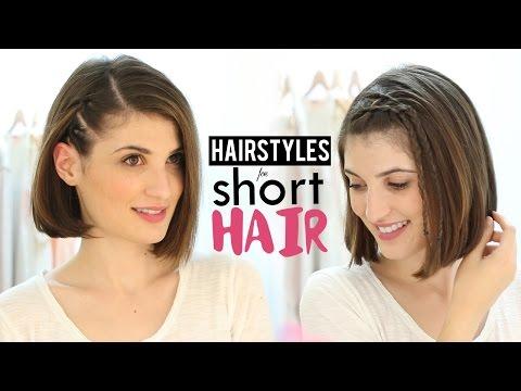 Hairstyles for short hair tutorial