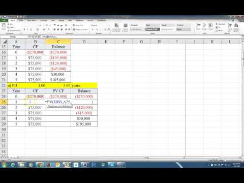 How to Calculate the Payback Period and the Discounted Payback Period on Excel