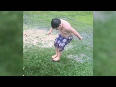 Lawn blisters are a thing, and these kids popped one