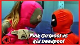 Pink Girlpool vs Kid Deadpool let