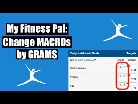 My Fitness Pal HACK: Macros by GRAMS