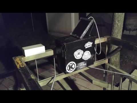 My remote control hog trap door.