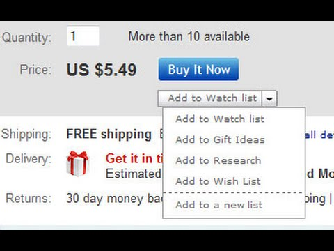 Setting Yourself Up to Win on eBay with a Watchlist 3 of 6