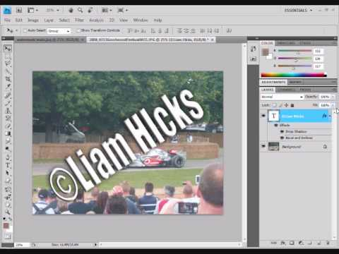 Create  A Water Mark In Photoshop CS4