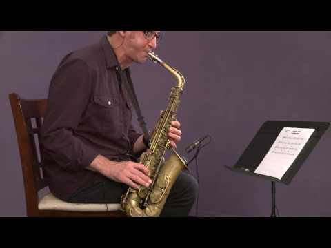 Jazz Saxophone with Eric Marienthal: Advanced Blues Solo (alto)