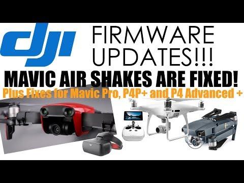 DJI Mega Firmware Updates (Mavic Air, Mavic Pro, Goggles, P4P+, P4A+