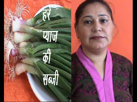 Hre payaj ki Subji (Green Onion)