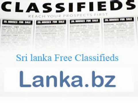 Sri lanka classifieds.wmv