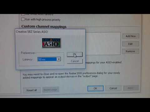 Sound Blaster ZxR ASIO Latency selection
