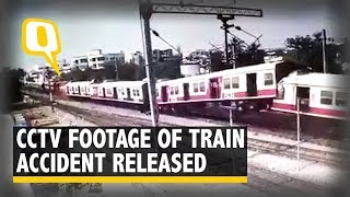 CCTV Footage Shows Collision of Two Trains at Kacheguda Railway Station | The Quint