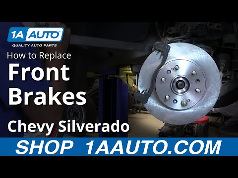 How To install Replace Do a Front Disc Brake Job 2007-13 Chevy Silverado GMC Sierra 4x4