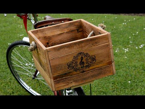 Making a detachable bicycle crate / Výroba odjímatelné bedýnky na kolo