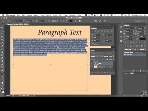 158 Adobe Photoshop CS6 Full Tutorial Formatting Paragraph Text
