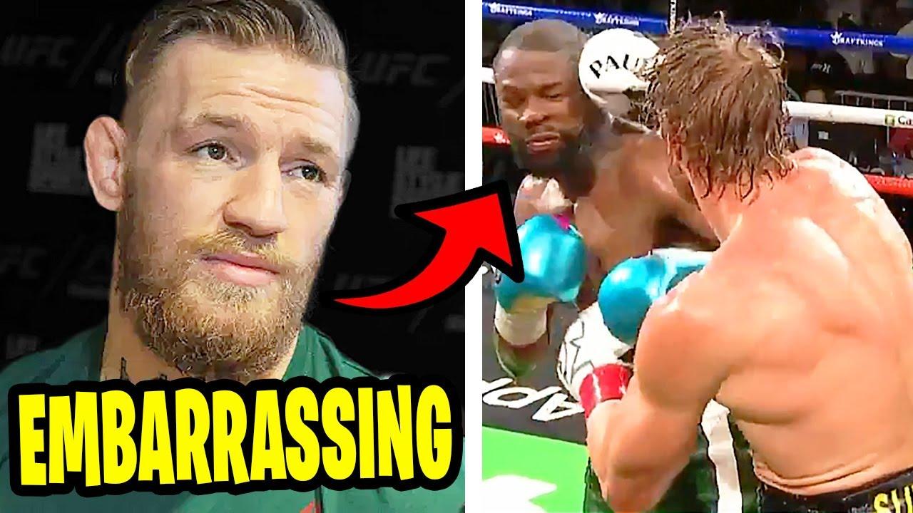 MMA Community Reacts - Floyd Mayweather vs. Logan Paul highlights (Boxing)