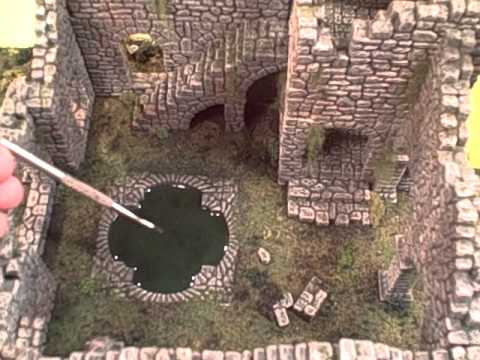 TerranScapes - Ruined Fieldstone terrain suitable for  28mm games such as Warhammer or LOTR.wmv