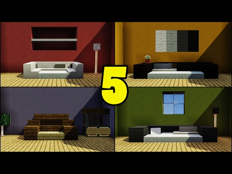Top 5 Couch/Sofa Designs in Minecraft