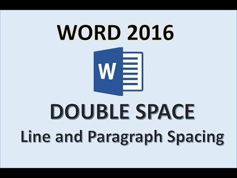 Word 2016 - Change Line and Paragraph Spacing in a Document