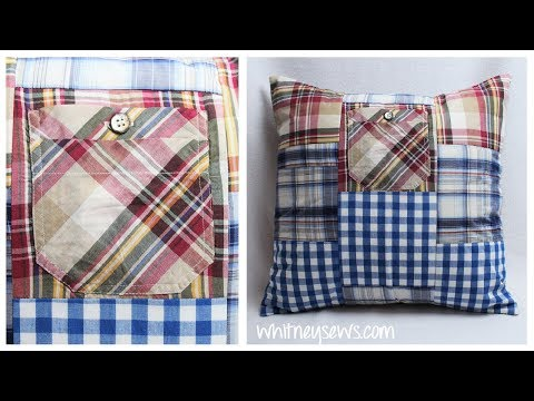 Patchwork Pillow Sham - Sewing How to | Whitney Sews