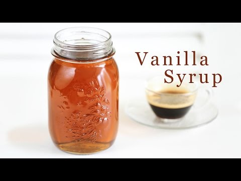 How to Make Vanilla Syrup 바닐라 시럽 만들기 - 한글자막