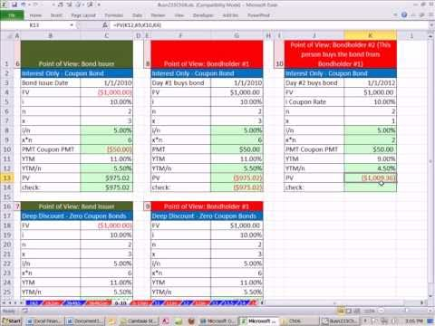 Excel Finance Class 47: Selling Bond When Coupon Rate Is Different Than Discount Rate (YTM Rate)