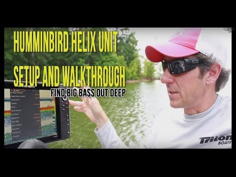 How to Setup A Humminbird Helix Unit for Finding Bass | Best Settings Tips & Tricks |