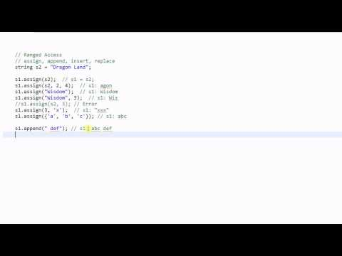 C++ String #2: Accessing String Characters