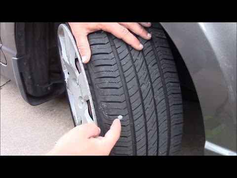 Easily find and fix a leak in a tire - No Jack Required