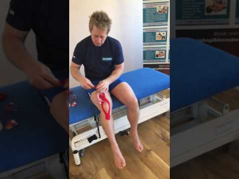 Best way to self-tape for runners knee / patella femoral / tendonitis