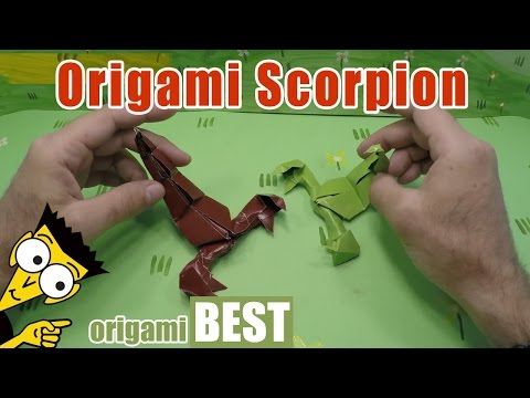 How to make an origami Scorpion - Origami BEST #origami