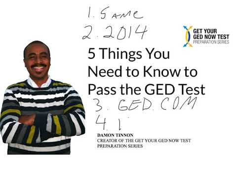 The 5 Things You Need to Know to Pass the GED Test