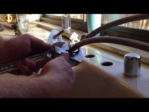 Replacing a single handle kitchen faucet