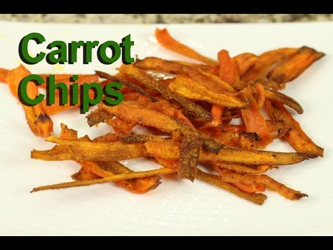 Carrot Chips - A Healthy Snack Recipe by Rockin Robin