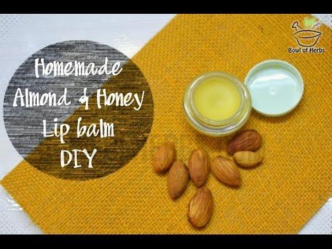 Homemade Almond honey lip balm - DIY