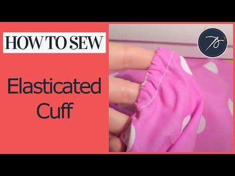 How to create an elasticated cuff
