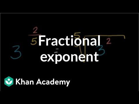 Solving for a fractional exponent   Exponent expressions and equations   Algebra I   Khan Academy