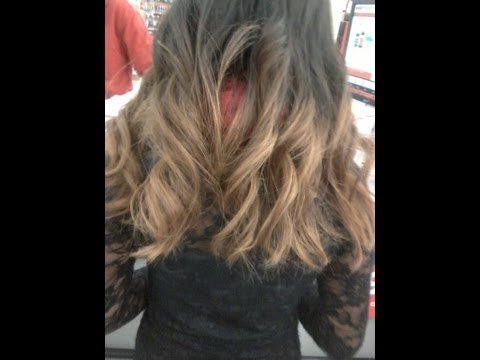 How to dye ombre hair! (Black to brown)