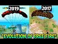 Evolution Of Garena Free FireFree Fire 2017 Vs 2019New Free Fire And Old Free Fire Comparison