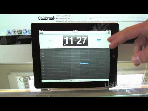 New iOS 6 Stock iPad Clock Application Demo