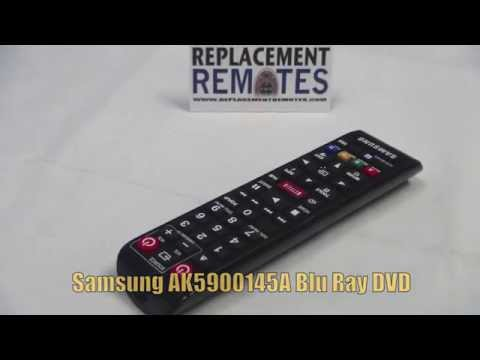 SAMSUNG AK5900145A Blu-Ray DVD Player Remote - www.ReplacementRemotes.com