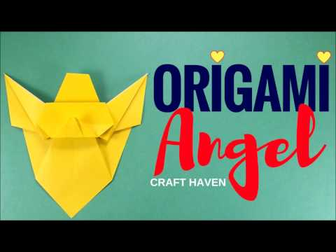 How to Make Easy Origami Angel - Simple Origami Tutorial for Beginners/Kids/Adults - Paper Angel