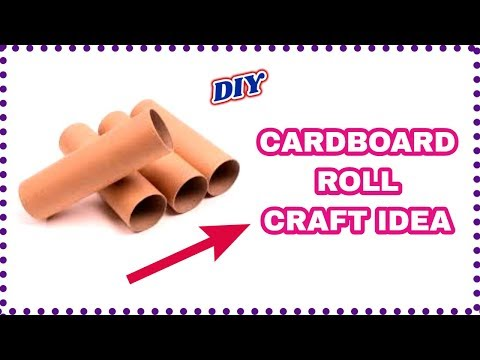 Best out of waste using cardboard roll-toilet paper roll craft