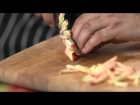 How To - cut fruit and veg into matchsticks